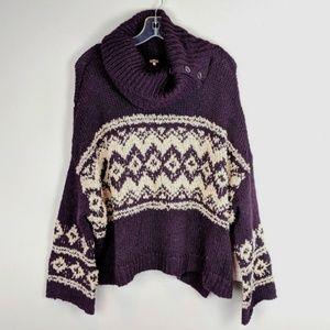 Free People | Purple Knit Oversized Sweater - A18